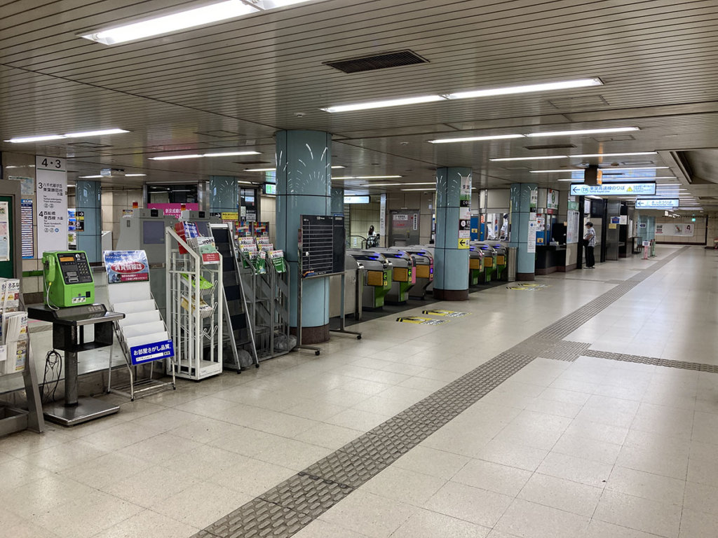 北習志野駅 東葉高速線改札口