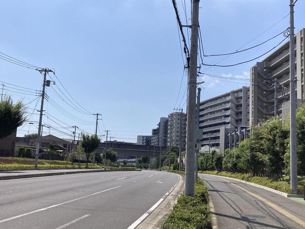 流山おおたかの森駅周辺の道路