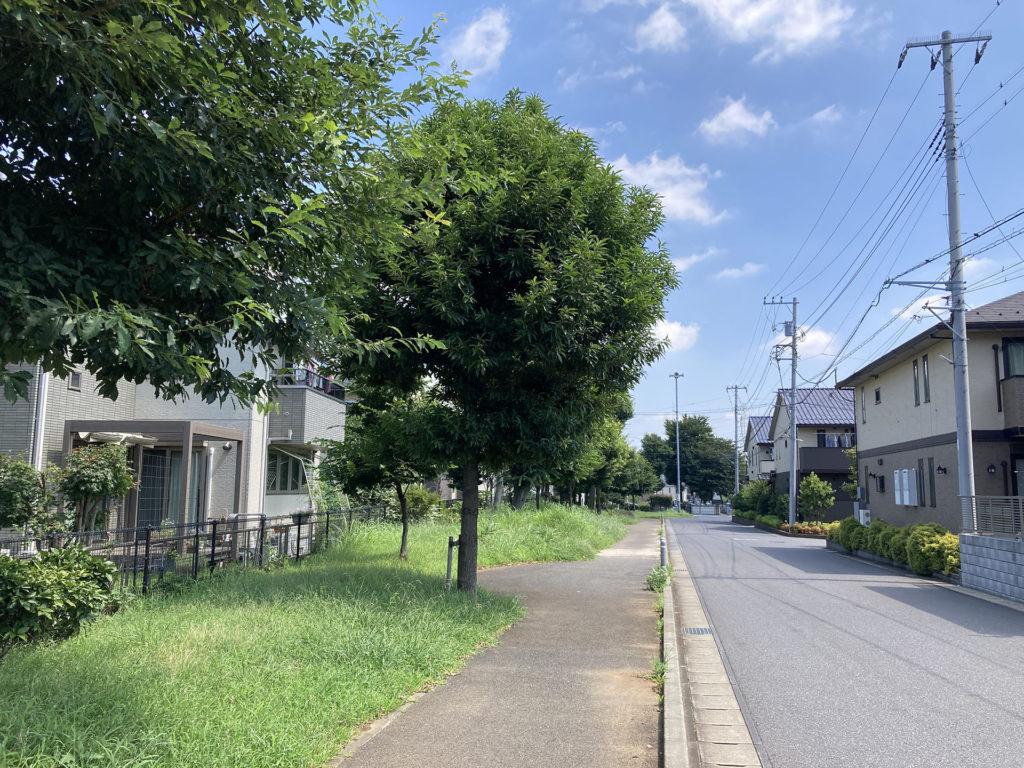 流山おおたかの森駅周辺の住宅街