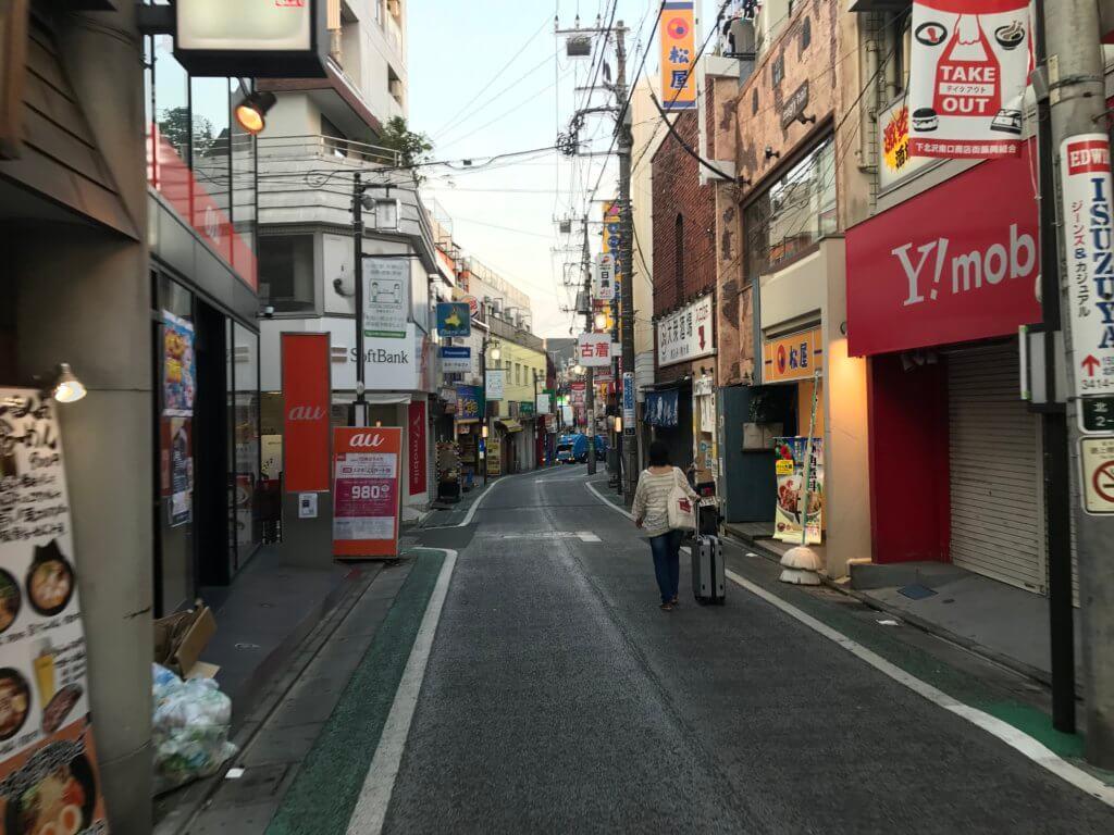 下北沢駅周辺の商店街