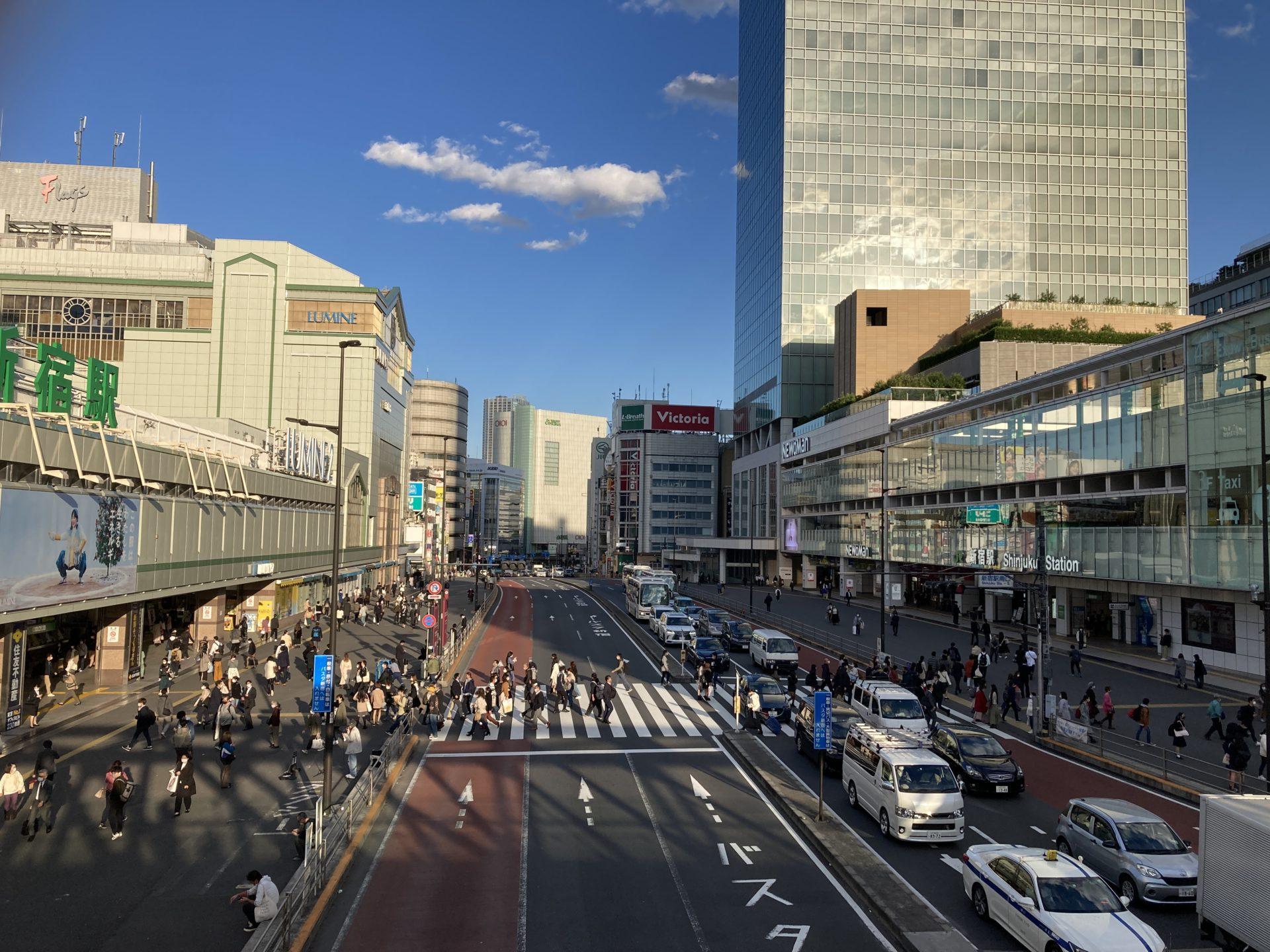 【新宿駅南口・新南口周辺を歩いてみた】モダンな雰囲気と迷子になりにくい街