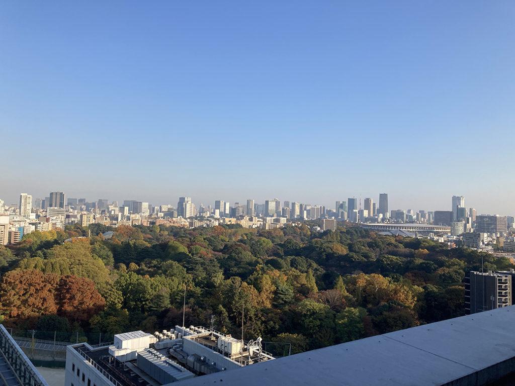 屋上庭園・ホワイトガーデンからの景色