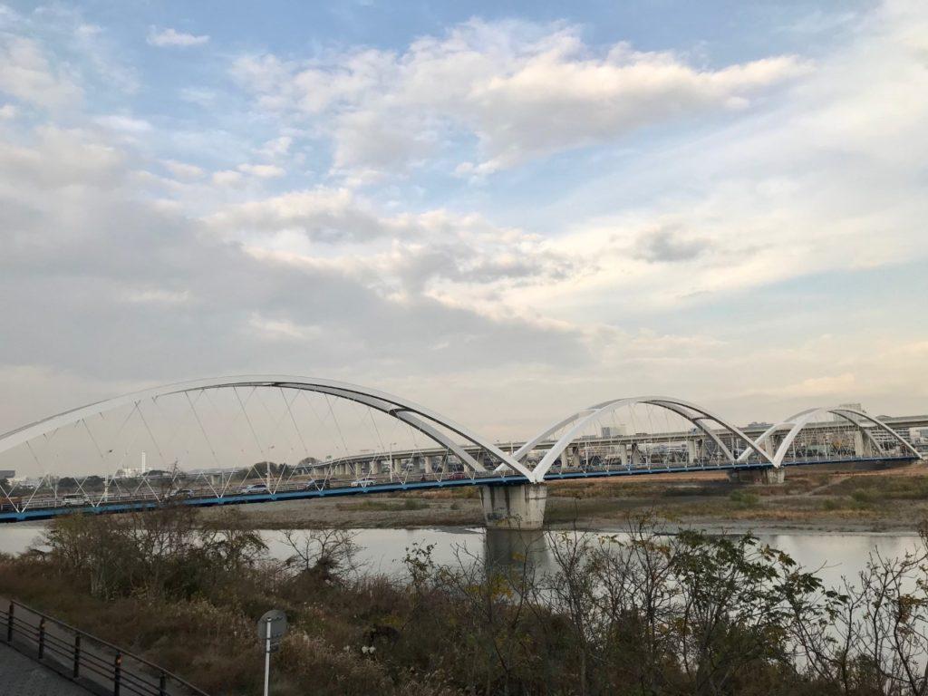 相模川とあゆみ橋