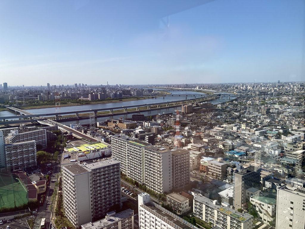 船堀タワー展望台からの眺め
