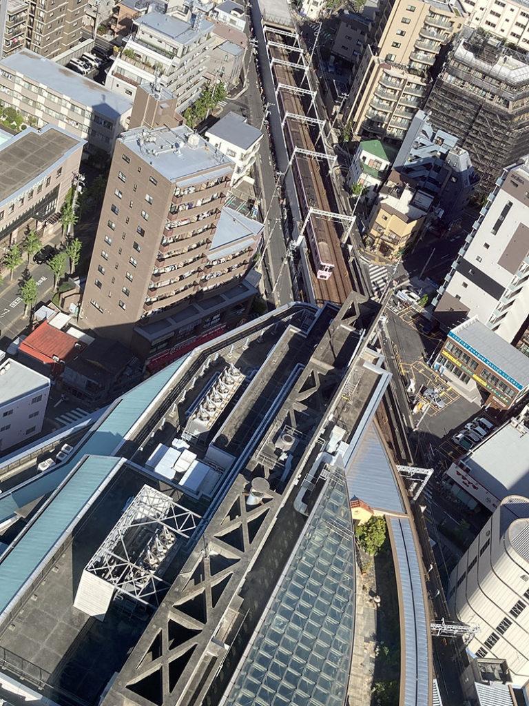 船堀タワーから見た船堀駅