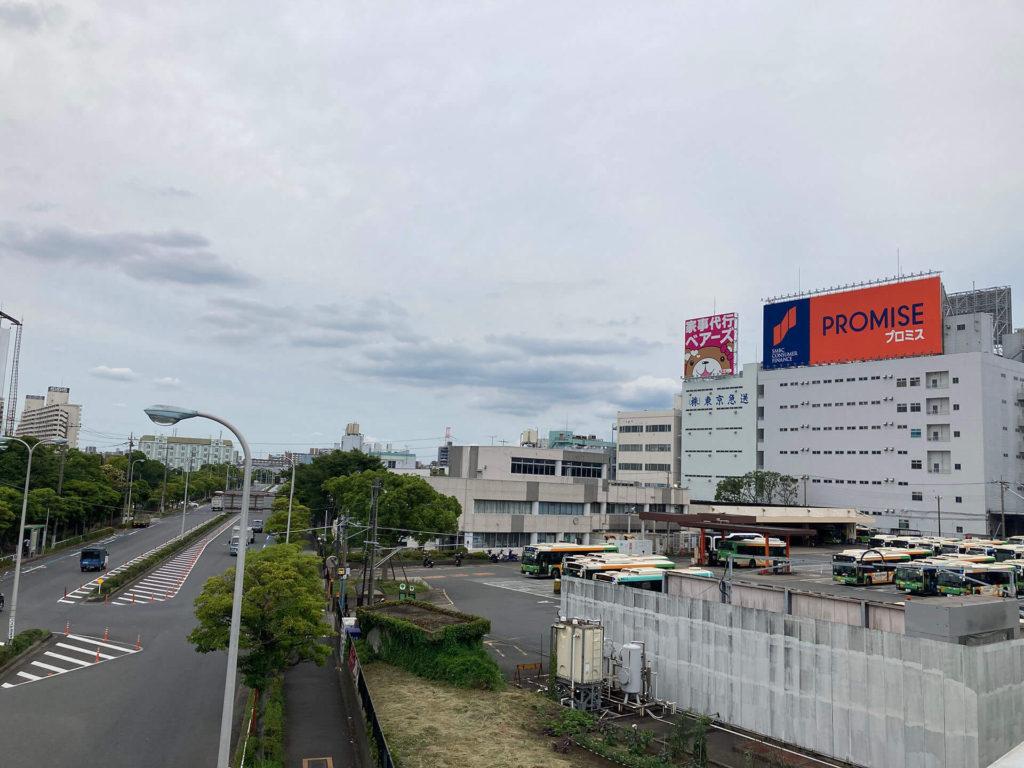 葛西臨海公園駅付近の倉庫街