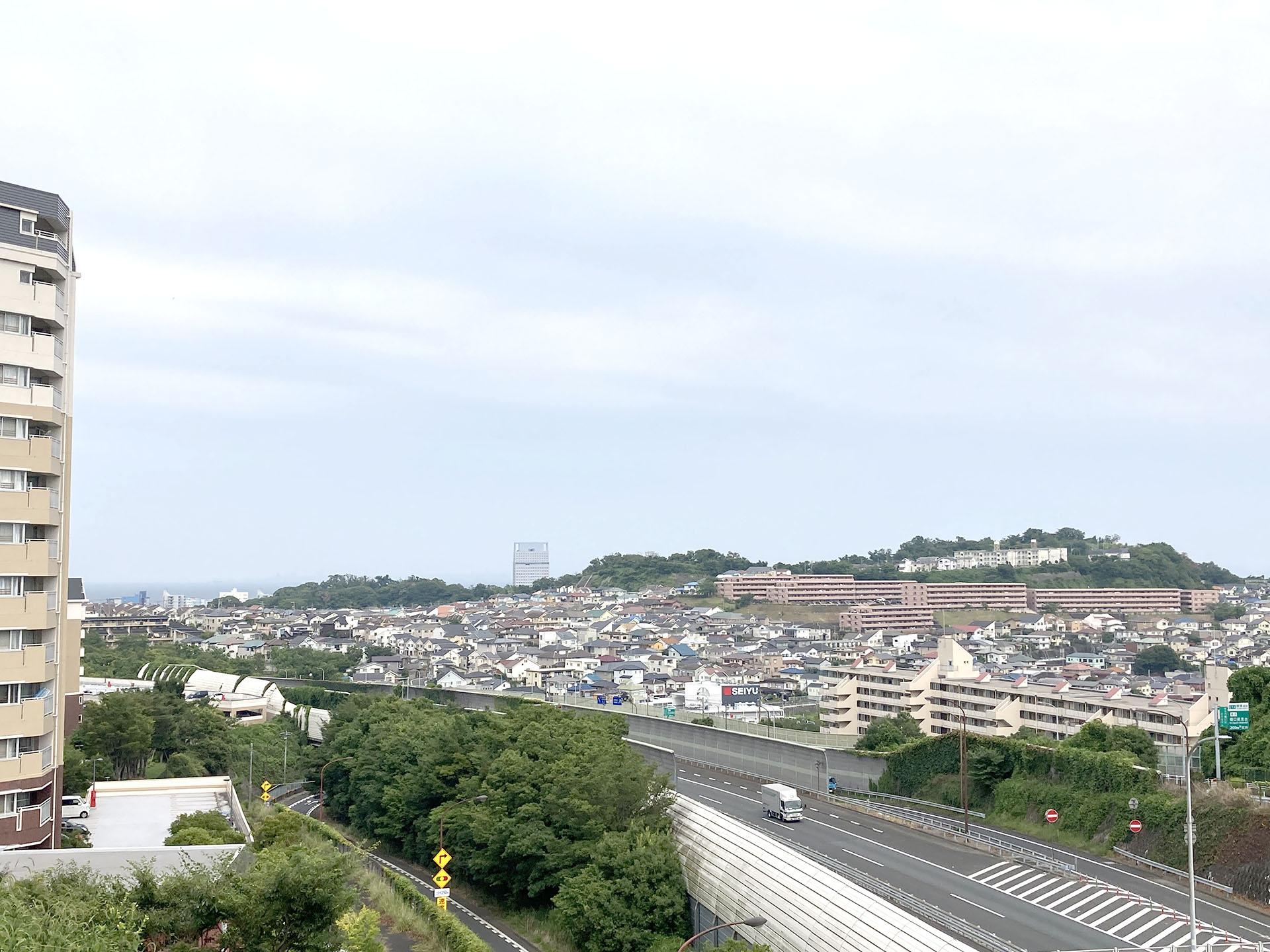 日平橋横の高台から